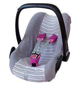 ByBoom® - Funda de verano / funda hecha de tela de toalla, funda universal para portabebés (Moisés), asiento de coche, por ejemplo, Maxi-Cosi CabrioFix, Pebble, City SPS de ByBoom