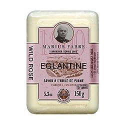Savon De Marseille Soap Wild Rose Marius Fabre 5.3 Oz Bar
