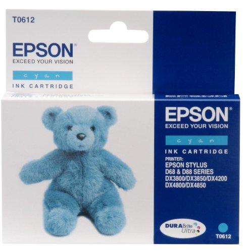 Epson Tintenpatrone T0612, Singlepack, cyan