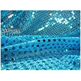 44-Inch wide, Faux Sequin Knit Fabric - 932 Turquoise
