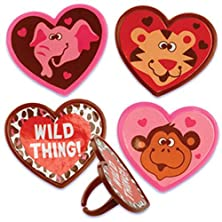 buy Dress My Cupcake Dmc41V-803Set Animals Wild Thing Ring Decorative Cake Topper, Valentines, Assorted, Case Of 144