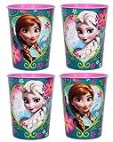 Disneys Frozen ~ Set of 4 Plastic Stadium Cups ~ 16 Oz. ~ Party Favors