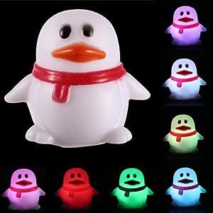 Cute Penguin Shape 7 Color Change Decoration LED Lamp Night Light Nightlight Kid from Nollmit Co,LTD