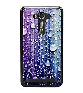 Droplets on Colourful Wall 2D Hard Polycarbonate Designer Back Case Cover for Asus Zenfone 2 Laser ZE500KL (5 INCHES)