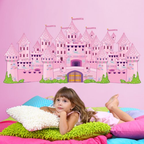 Mona Melisa Designs, Big Peel and Stick Decal, Princess Castle