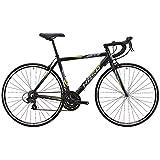 HASA(ハサ) R5 ブラック+イエロー フレームサイズ460mm シマノTOURNEY21speed ロードバイク デュアルコントロールレバー装備 前後キャリパーブレーキ 前後クイックリリース アナトミックシャロードロップハンドル 10.4kg 80502-6746 ブラック+イエロー