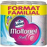 MOLTONEL Papier Hygiénique Style Format Familial 18 Rouleaux