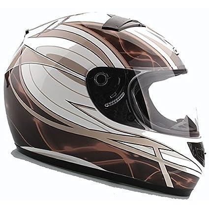 Casque moto intégral CHOK STARLIGHT 14 - Blanc / Marron