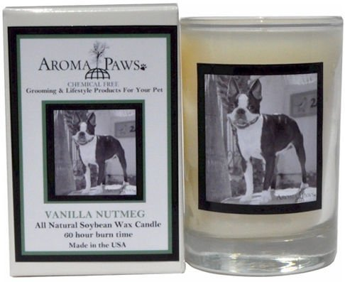 Aroma Paws 337 Breed Candle 5 Oz. Glass-Gift Box - Boston Terrier