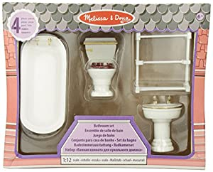 Melissa & Doug Dollhouse Furniture - Bathroom Set