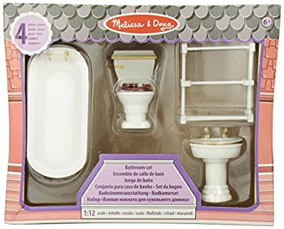 Melissa & Doug Dollhouse Furniture - Bathroom Set