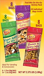 Kar's Nuts Trail Mix Variety Pack (Box of 24 tube bags) from Kar's Nut
