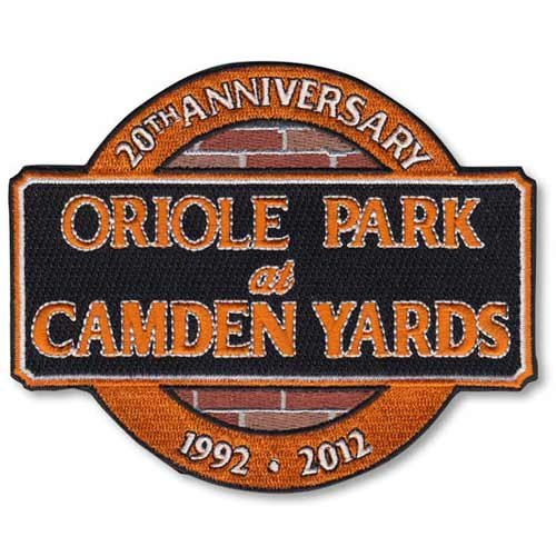 2012 Baltimore Orioles 20th Anniversary Oriole Park at Camden Yards MLB Baseball Patch at Amazon.com