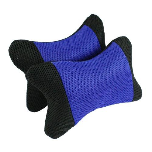2 Pcs Car Auto Travel Blue Black Bone Shape Neck Head Pillow