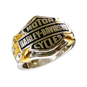 Sterling Silver Harley-Davidson Men's Logo Ring|Amazon.com