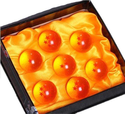 ドラゴンボール(DRAGON BALL)水晶 ドラゴン 龍球 7個セット クリスタル 4.5cm コスプレ グッズ 小道具 運気 改善 風水 神龍召喚