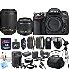 Nikon D7100 24.1 MP DX-Format CMOS Digital SLR With Nikon 18-55mm f/3.5-5.6G VR II AF-S DX NIKKOR Zoom Lens & Nikon 55-200mm f/4-5.6G ED IF AF-S DX VR Nikkor Zoom Lens & CS Premium Package: Includes High Speed 32GB SDHC Memory Card, SD Card Reader, Memory Card Wallet, SLR Hand Strap, Lens Cap Keeper, High Definition Wide Angle Lens, Telephoto HD Lens, 3 Piece Filter Kit, 4 Piece Macro Close Up Set, Wireless Shutter Release, Shoe Mount Flash, Nikon EN-EL15 Replacement Battery, Rapid Travel Charger With Car Adapter, HDMI Cable, Tulip Lens Hood, Full Size Tripod, Weather Resistant Carrying Case, Brush Blower, Cleaning Kit, LCD Screen Protectors & CS Microfiber Cleaning Cloth