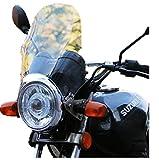 バイク 汎用 カウル スクリーン 風防 メーター バイザー 丸目 ヘッド ライト (クリア)