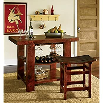 Orvis Wine Stave Kitchen Island And Stools / Only Stool