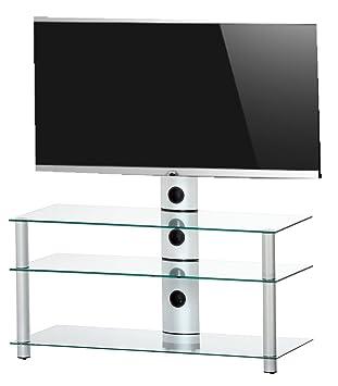 Meuble TV NEO-1103 TA - Transparent / Argent