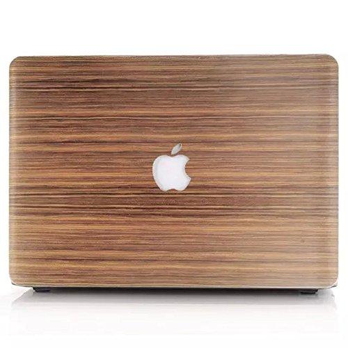 YiYiNoe 擬木スタイル- Air 13 インチ ケース 軽量 薄型 カバー スマートケース ノートパソコンケース ハードケース 対応機種 Apple Macbook Air 13.3インチ 型番:A1466 & A1369(PC底部)スクリーン保護フィルム付け