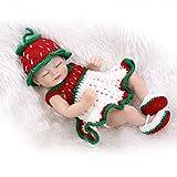 NPKDOLL 10 pulgadas renacer de la muñeca de silicona duro Simulación de vinilo 26cm impermeable del juguete del baño de la Niña rojo del regalo blanco verde con los ojos cerrados Reborn Doll A1ES