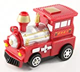 Perfect Life Ideas Red Train Vehicle Puzzle Track Play Set - Battery Operated Toy Themed Style Vehicle Runs on Interchangeable Puzzle Tracks - Make up to 50 Track Combinations (Train- Red)
