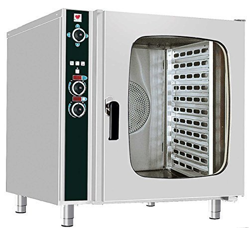 North Pro Gas FCN 110 Electric Convection/Steam Oven for 10 Trays 600x400mm - LxWxH: 985x940x980mm (400V-3N-AC-50Hz) (Made in Greece)