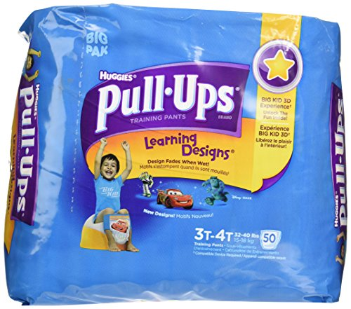 Huggies Pull-Ups Learning Designs Training Pants Biggie Pack Size 3T-4T Boy 50ct - 1