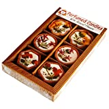 Salebrations Multi Perfumed Terracotta Candles With Natural Dry Flowers Gift Packs Type 2