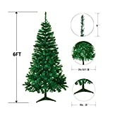 Ecolinear 6' Artificial Christmas Tree 700 Tips Eco-Friendly Pine Green Or White (Green)