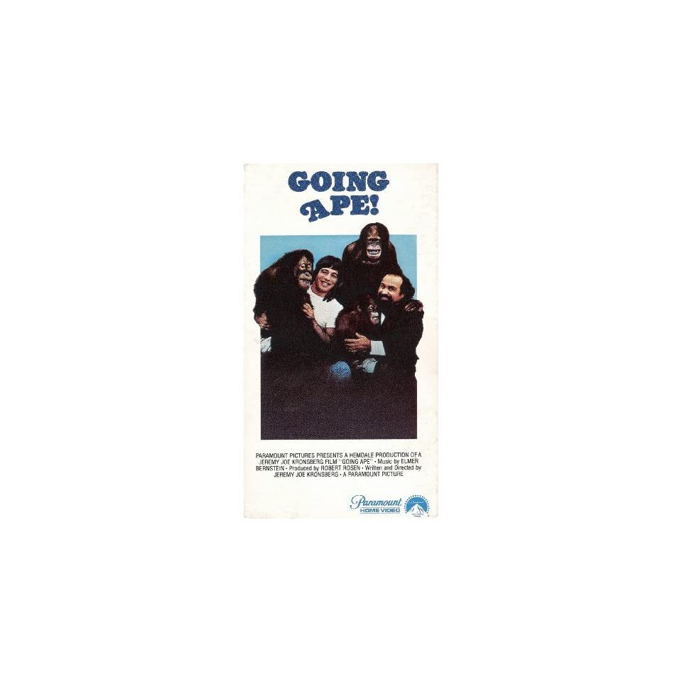 Going Ape [VHS]: Tony Danza, Jessica Walter, Stacey Nelkin
