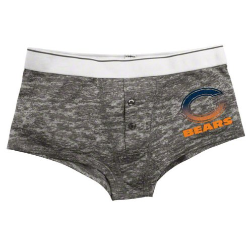 Chicago Bears Women's Gray Boyfriend Briefs