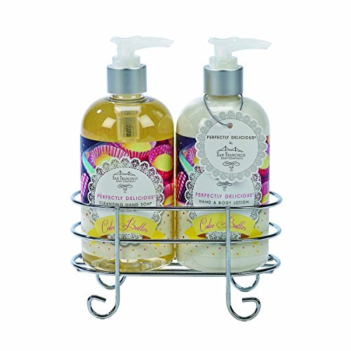 san-francisco-soap-co-cake-batter-hand-soap-and-cake-batter-hand-body-shea-butter-lotion-caddy-set-1