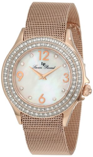 Lucien Piccard Women's 11674-RG-22MOP Balmhorn White Mother-Of-Pearl Dial Watch