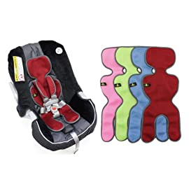 Comfy Breathable Infant Car Seat Liner with Bonus Shoulder Pads