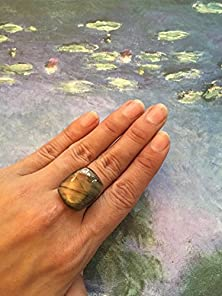 buy The Mystery. Copper Gold Labradorite Ring. Statement Labradorite Ring. Gem Ring. Gem Stone Ring. Large Labradorite Ring. Unique Rings