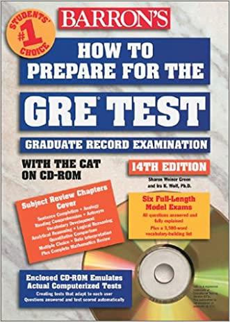 How to Prepare for the GRE: Graduate Record Examination with CDROM (Barron's How to Prepare for the Gre Graduate Record Examination)