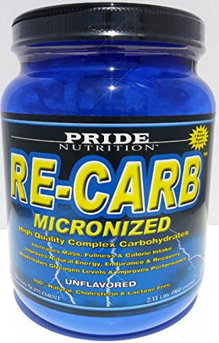 Best Complex Carbohydrate Powder~ RE-CARB Unflavored 2.11g~ Micronized For Endurance & Muscle Fullness Add to Pre-Workout, Intra-Workout, Post-Workout & Protein Formula to Improve Maximum Results