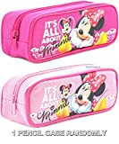 Disney Minnie Mouse  It's All About Minnie  Pink or Hot Pink Pencil Case Randomly (1 PENCIL CASE)