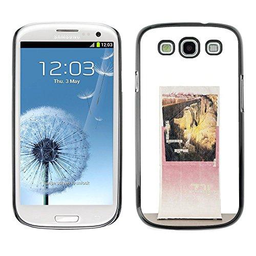 Canyon Vintage Poster Art - Aluminum Metal & plastica dura Phone caso - nero - Samsung Galaxy S3