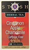 Stash Tea Cinnamon Apple Chamomile Herbal 20 Count Box (Pack of 6)