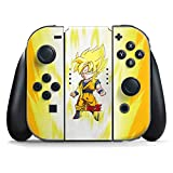 Skinit Dragon Ball Z Nintendo Switch Joy Con Controller Skin - Super Saiyan Design - Ultra Thin, Lightweight Vinyl Decal Protection (Color: Yellow, Tamaño: Small)