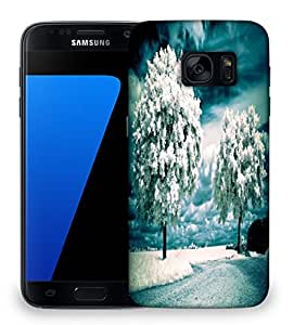 Snoogg White Frozen Trees Designer Protective Phone Back Case Cover For Samsung Galaxy S7