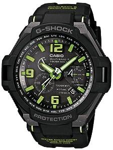 Casio GW-4000-1A3ER - Reloj analógico de cuarzo para hombre con correa de resina, color negro