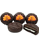 Philadelphia Candies Dark Chocolate Covered OREO Cookies, Thanksgiving Tom Turkey 8 Ounce
