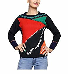 Leebonee Women's Acrylic Full Sleeve Dove Sweater