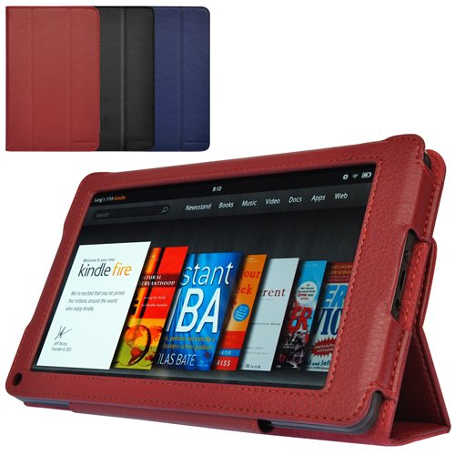 CaseCrown Bold Trifold Case (Red) for Amazon Kindle Fire Tablet