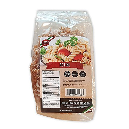 Great Low Carb Bread Co., Rotini, 8oz, Low Carb Pasta (Low Carb Breads compare prices)