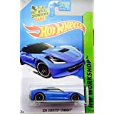 2014 Hot Wheels Hw Workshop 207/250 - 2014 Corvette Stingray - Blue [Ships In A Box!]